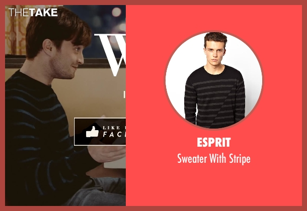 Esprit black stripe from What If seen with Daniel Radcliffe (Wallace)