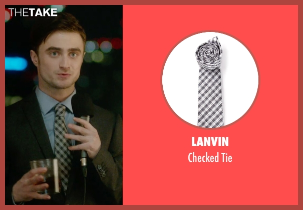 Lanvin black tie from What If seen with Daniel Radcliffe (Wallace)