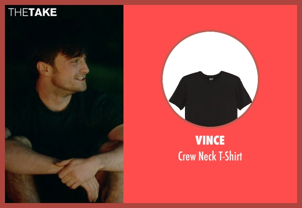 Vince black t-shirt from What If seen with Daniel Radcliffe (Wallace)