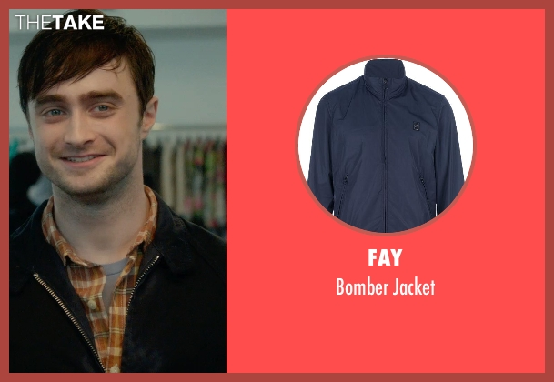 Fay blue jacket from What If seen with Daniel Radcliffe (Wallace)