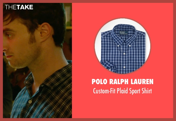 Polo Ralph Lauren blue shirt from What If seen with Daniel Radcliffe (Wallace)