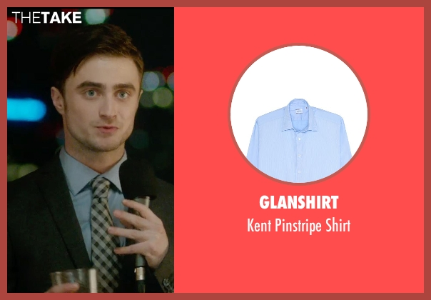 Glanshirt blue shirt from What If seen with Daniel Radcliffe (Wallace)