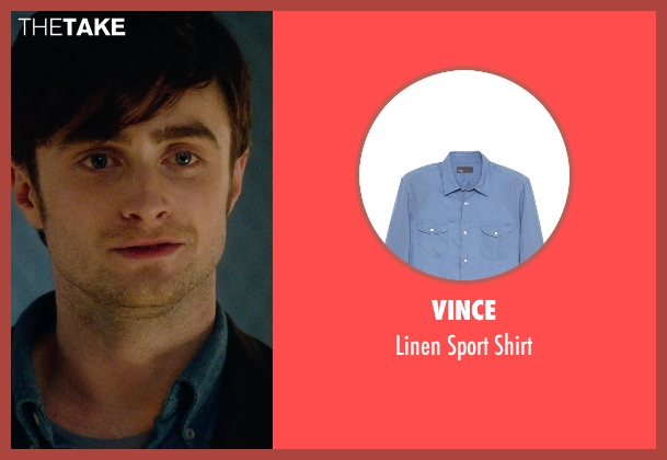 Vince blue shirt from What If seen with Daniel Radcliffe (Wallace)