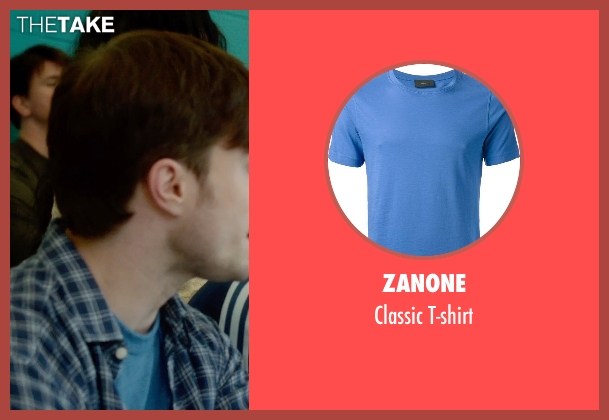 Zanone blue t-shirt from What If seen with Daniel Radcliffe (Wallace)