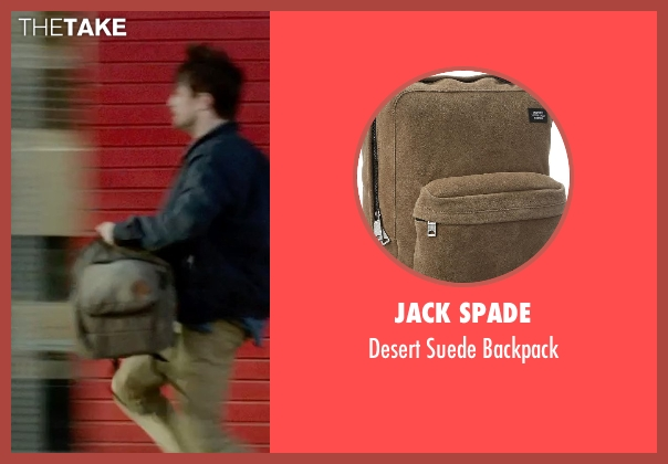 Jack Spade brown backpack from What If seen with Daniel Radcliffe (Wallace)