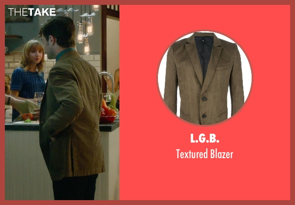 L.G.B. brown blazer from What If seen with Daniel Radcliffe (Wallace)