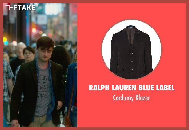 Ralph Lauren Blue Label brown blazer from What If seen with Daniel Radcliffe (Wallace)