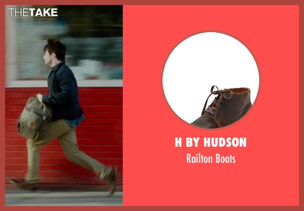H by Hudson brown boots from What If seen with Daniel Radcliffe (Wallace)