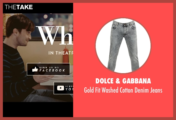 Dolce & Gabbana gray jeans from What If seen with Daniel Radcliffe (Wallace)