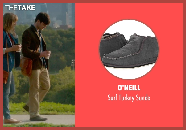 O'Neill gray suede from What If seen with Daniel Radcliffe (Wallace)