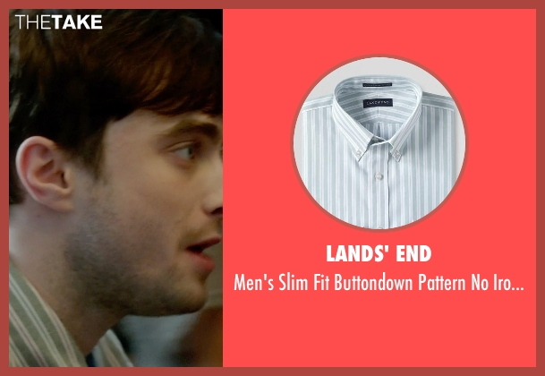 Lands' End green shirt from What If seen with Daniel Radcliffe (Wallace)