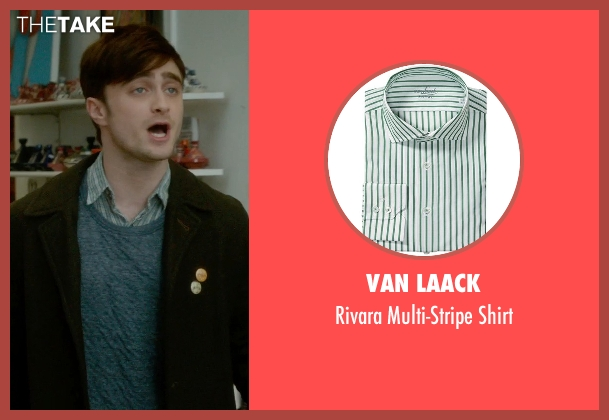 Van Laack green shirt from What If seen with Daniel Radcliffe (Wallace)