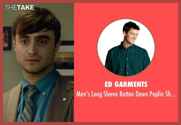 Ed Garments green shirt from What If seen with Daniel Radcliffe (Wallace)