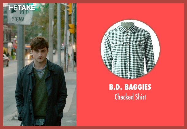 B.D. Baggies green shirt from What If seen with Daniel Radcliffe (Wallace)