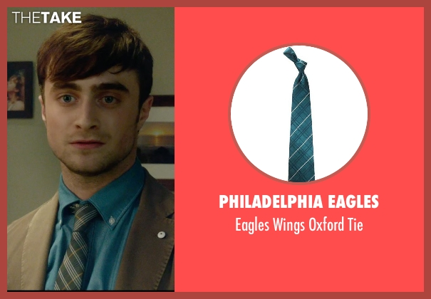 Philadelphia Eagles green tie from What If seen with Daniel Radcliffe (Wallace)