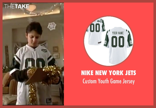 Nike New York Jets white jersey from Elf seen with Daniel Tay (Michael A.)