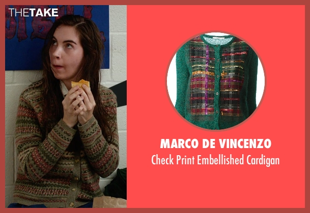 Marco De Vincenzo green cardigan from The DUFF seen with Danielle Sherrick (Creepy Carrie)