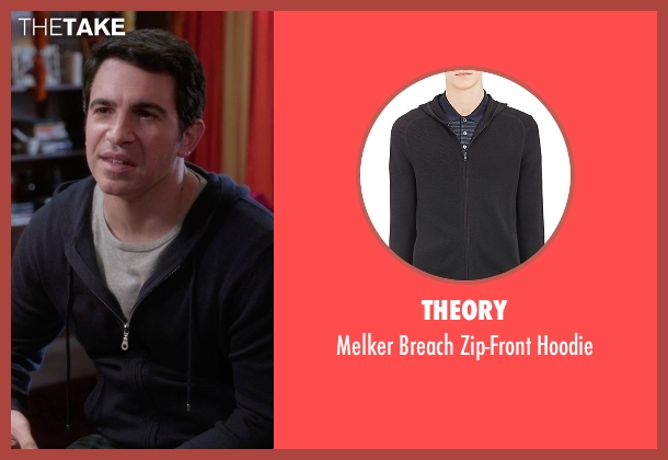 Theory black hoodie from The Mindy Project seen with Danny Castellano (Chris Messina)