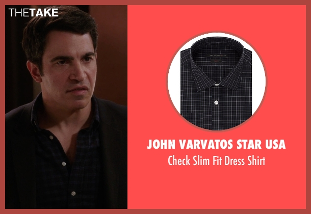 John Varvatos Star USA black shirt from The Mindy Project seen with Danny Castellano (Chris Messina)