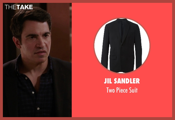 Jil Sandler black suit from The Mindy Project seen with Danny Castellano (Chris Messina)