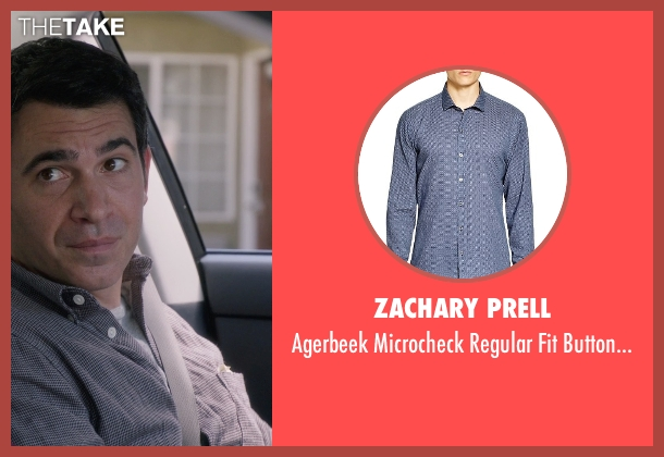 Zachary Prell blue shirt from The Mindy Project seen with Danny Castellano (Chris Messina)