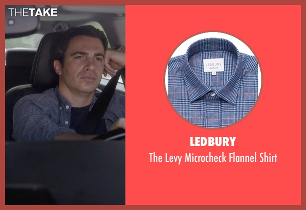 Ledbury blue shirt from The Mindy Project seen with Danny Castellano (Chris Messina)