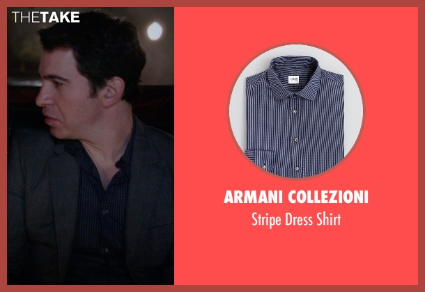 Armani Collezioni blue shirt from The Mindy Project seen with Danny Castellano (Chris Messina)