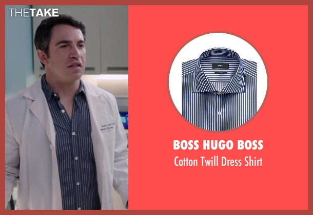 Boss Hugo Boss blue shirt from The Mindy Project seen with Danny Castellano (Chris Messina)