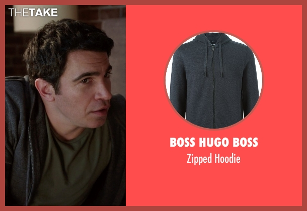 Boss Hugo Boss gray hoodie from The Mindy Project seen with Danny Castellano (Chris Messina)