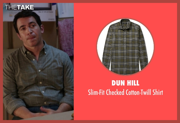 Dun Hill green shirt from The Mindy Project seen with Danny Castellano (Chris Messina)