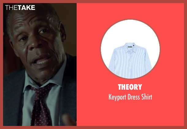 Theory blue shirt from Beyond the Lights seen with Danny Glover (Captain David Nicol)