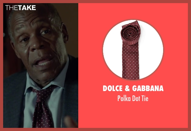 Dolce & Gabbana red tie from Beyond the Lights seen with Danny Glover (Captain David Nicol)