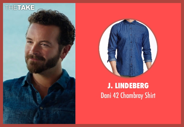 J. Lindeberg blue shirt from Urge seen with Danny Masterson (Neil)