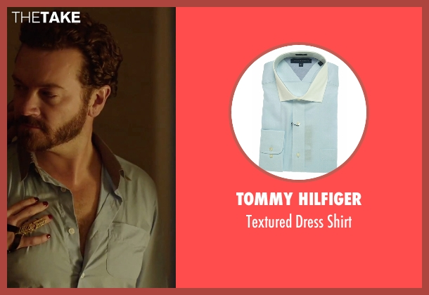 Tommy Hilfiger blue shirt from Urge seen with Danny Masterson (Neil)