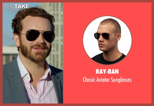 Ray-Ban gold sunglasses from Urge seen with Danny Masterson (Neil)