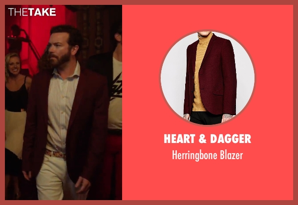 Heart & Dagger red blazer from Urge seen with Danny Masterson (Neil)