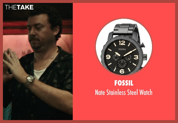 Fossil black watch from Rock The Kasbah seen with Danny McBride (Unknown Character)