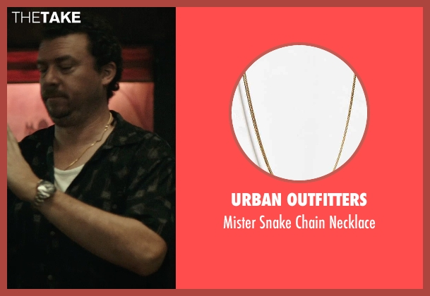 Urban Outfitters gold chainnecklace from Rock The Kasbah seen with Danny McBride (Unknown Character)