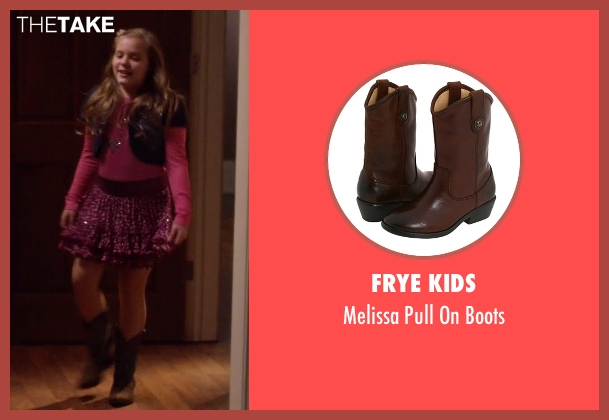 Frye Kids brown boots from Nashville seen with Daphne Conrad (Maisy Stella)