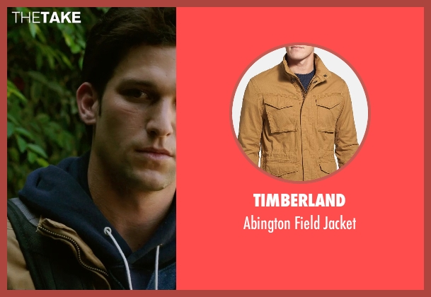 Timberland beige jacket from Ouija seen with Daren Kagasoff (Trevor)