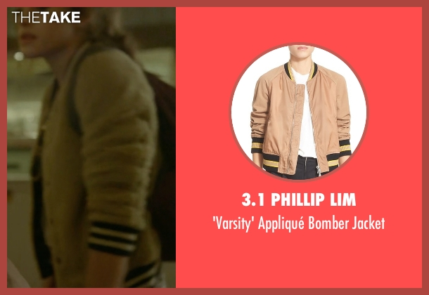 3.1 Phillip Lim beige jacket from Mr. Robot seen with Darlene (Carly Chaikin)