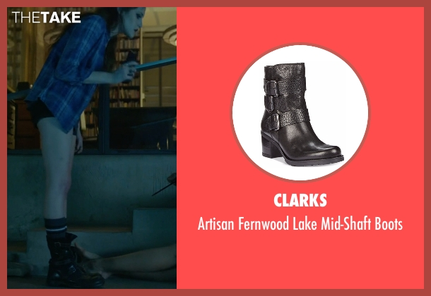 Clarks black boots from Mr. Robot seen with Darlene (Carly Chaikin)