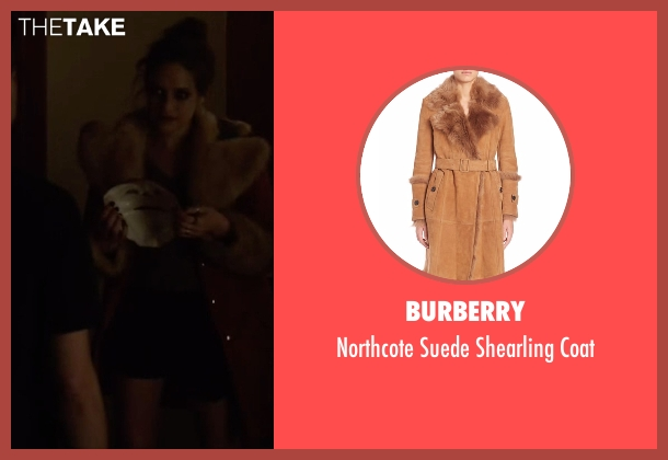 Burberry brown coat from Mr. Robot seen with Darlene (Carly Chaikin)