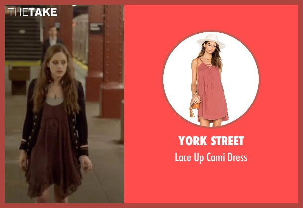York Street brown dress from Mr. Robot seen with Darlene (Carly Chaikin)