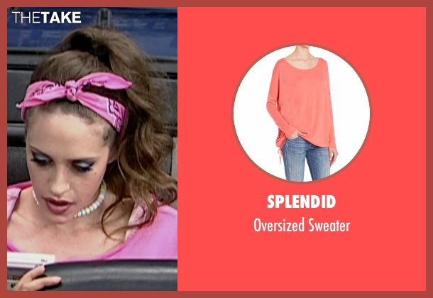Splendid pink sweater from Mr. Robot seen with Darlene (Carly Chaikin)