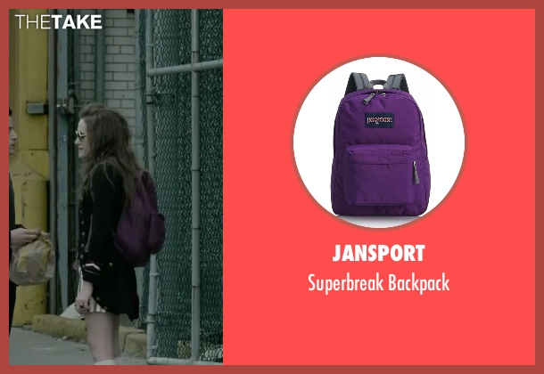 Jansport purple backpack from Mr. Robot seen with Darlene (Carly Chaikin)