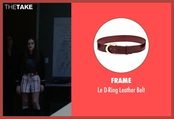 Frame red belt from Mr. Robot seen with Darlene (Carly Chaikin)