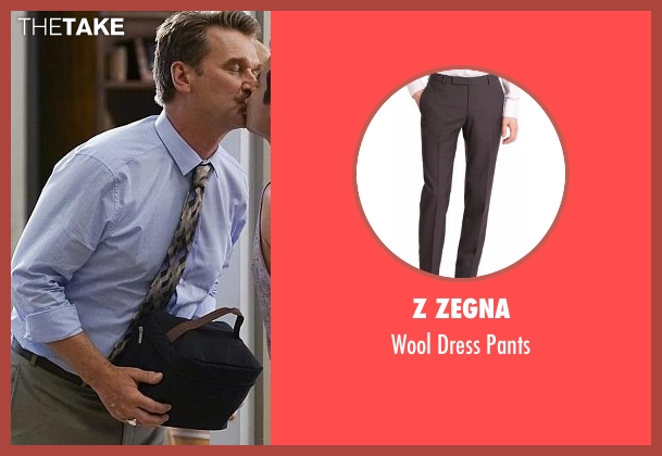 Z Zegna gray pants from Crazy Ex-Girlfriend seen with Darryl Whitefeather (Pete Gardner)