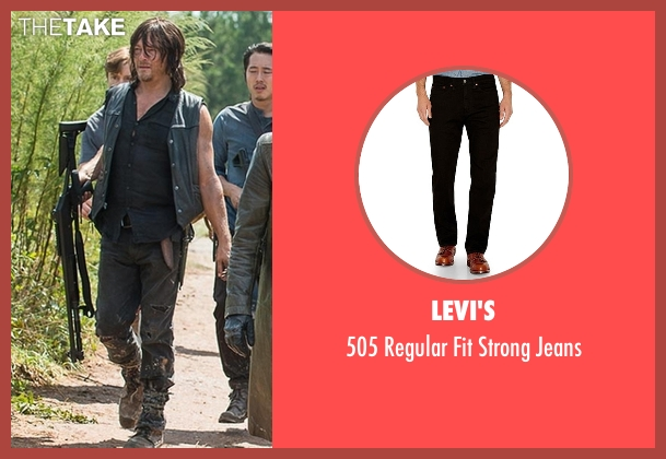 Levi's black jeans from The Walking Dead seen with Daryl Dixon (Norman Reedus)