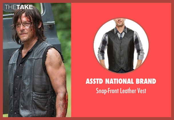 Asstd National Brand black vest from The Walking Dead seen with Daryl Dixon (Norman Reedus)